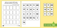 Ordering Numbers in 5s to 100 Activity Arabic/English