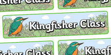 Kingfisher Themed Classroom Display Banner
