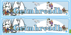 Winter Geimhreadh Display Banner Gaeilge
