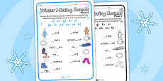 Winter Phase 4 Missing Blends Activity Sheet