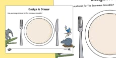Design A Dinner to Support Teaching on The Enormous Crocodile