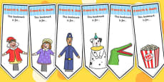 Punch and Judy Editable Bookmarks