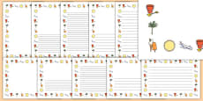 My School Holiday Page Borders