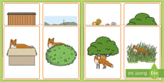 * NEW * Where is the Fox? Positional Language Picture Cards