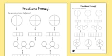 Fractions Frenzy Read and Colour Activity Sheet