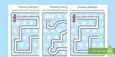 Karty Zimowy labirynt
