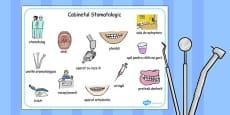 Dentist Surgery Word Mat Romanian