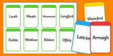 Counties of Ireland Flashcards
