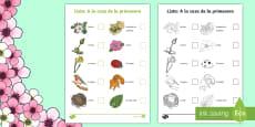 * NEW * Spring Hunt Checklist - Spanish