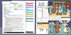 Nativity Story Scene EYFS Adult Input Plan and Resource Pack