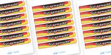 Wristband Awards (German)