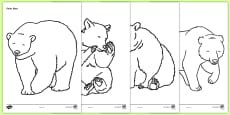 Bears Colouring Sheets