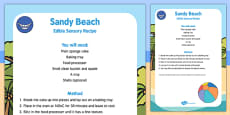 Sandy Beach Edible Sensory Recipe