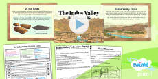 PlanIt - History UKS2 - The Indus Valley Lesson 5: Building a Life Lesson Pack