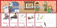 Santa's Christmas Workshop Themed Role Play Pack