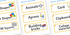 Cat Themed Editable Classroom Resource Labels