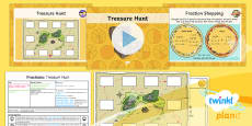 * NEW * PlanIt Y4 Fractions Measure and Money Problem Solving (4) Lesson Pack