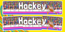 The Olympics Hockey Display Banner