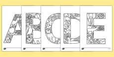 Uppercase Alphabet Themed Mindfulness Colouring Sheets