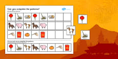Chinese New Year Complete The Pattern Worksheets Differentiated Romanian Translation