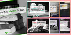 Reading Quote Posters for KS4