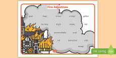 Fire Adjectives Word Mat