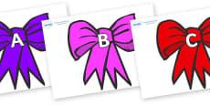 A-Z Alphabet on Bows