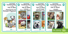 Vets Surgery Advice Display Posters English/Arabic