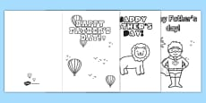 Australia - Father's Day Card Templates Colouring