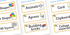 Safari Themed Editable Classroom Resource Labels
