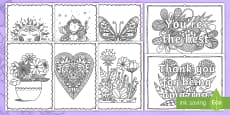 Adult Colouring Mindfulness Mother's Day Pages