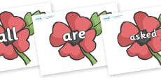Tricky Words on Poppies