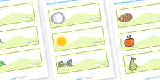 Editable Drawer-Peg-Name Labels to Support Teaching on The Very Hungry Caterpillar