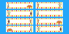 Circus Themed Editable Gratnells Tray Labels