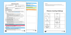 * NEW * EYFS Builder's Tray Phoneme Challenge Adult Input Plan and Resource Pack