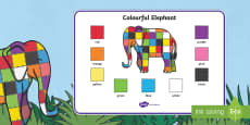 Australia - Colour Word Mat to Support Teaching on Elmer