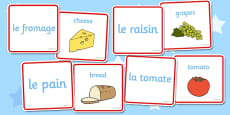 French Food Matching Cards
