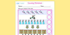 My Counting Worksheet (Toys)