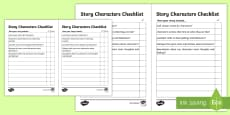 Story Characters Checklist