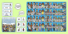 * NEW * Disability Display Pack
