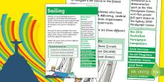 Rio Paralympics 2016 Sailing Display Poster