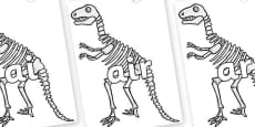 Phase 3 Phonemes on Dinosaur Skeletons