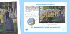 Introduction to Pointillism Activity Sheet