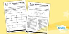 PlanIt - D&T KS1 - Sensational Salads Unit Home Learning Tasks