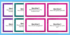 European Union Research Task Cards