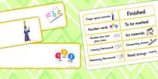 Editable Yellow Drawer Labels
