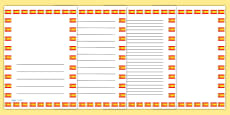 Spanish Flag Page Borders