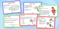 KS1 Fraction Starter Ideas Pack
