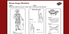 Roman Images Labelling Activity Sheet