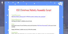 Christmas The Nativity Assembly Script KS1